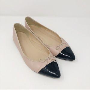 J. Crew Gemma Cap Toe Leather flats shoes
